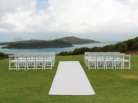 Chair, Folding chair, Furniture, Aisle, Lake district, Table, Lawn, Grass, Ceremony, Event,