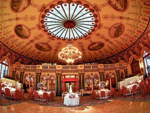 Interior design, Room, Hall, Ceiling, Furniture, Interior design, Function hall, Chair, Light fixture, Decoration,
