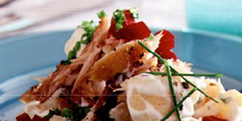 Food, Cuisine, Ingredient, Dish, Recipe, Garnish, Dishware, Brunch, Culinary art, À la carte food,
