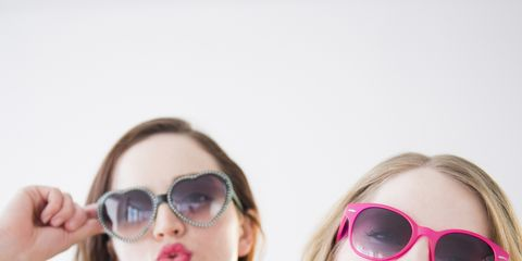 Eyewear, Glasses, Nose, Vision care, Lip, Mouth, Sunglasses, Goggles, Pink, Summer,