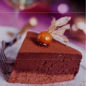 Chocolate and truffle orange torte