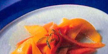 Dishware, Food, Orange, Ingredient, Plate, Tableware, Produce, Serveware, Garnish, Cuisine,
