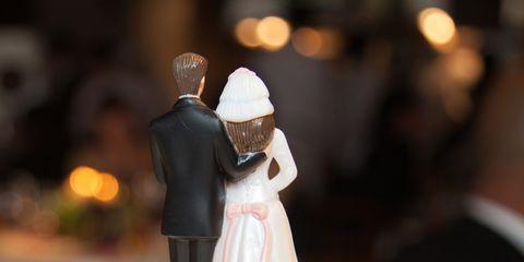 Cake, Dessert, Bridal clothing, Baked goods, Cake decorating, Formal wear, Bride, Dress, Wedding dress, Suit,