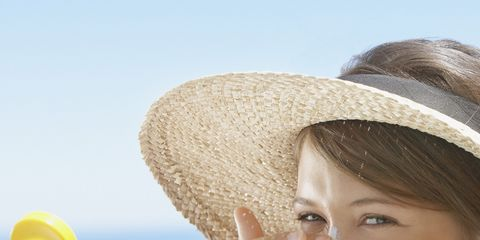Nose, Lip, Mouth, Skin, Hat, Hand, Happy, People in nature, Facial expression, Summer,