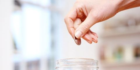 Finger, Saving, Mason jar, Nail, Food storage containers, Transparent material, Money handling, Home accessories, Money,