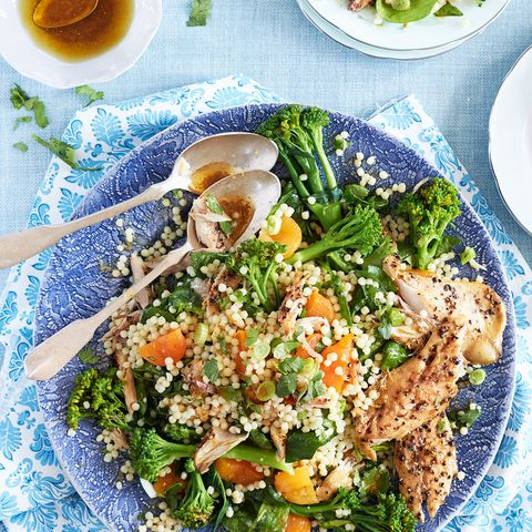 Smoked mackerel and giant couscous salad