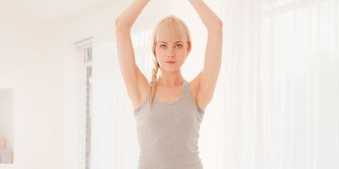 Human leg, Elbow, Shoulder, Wrist, Standing, Joint, Waist, Undershirt, Exercise, Knee,