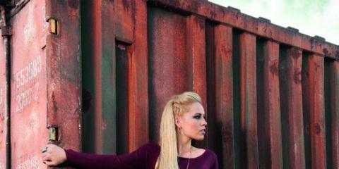 Denim, Jeans, Street fashion, Long hair, Blond, Waist, Flash photography, Photo shoot, Portrait photography, Model,