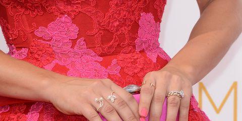 Finger, Red, Magenta, Hand, Nail, Pink, Nail care, Nail polish, Manicure, Wrist,