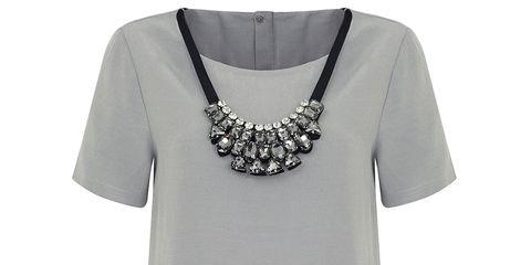 Clothing, Product, Sleeve, White, Style, Collar, Fashion, Grey, Metal, Street fashion,