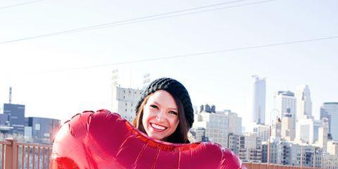 Lip, Winter, Happy, Jeans, Tower block, Tooth, Snow, Freezing, Skyscraper, Love,