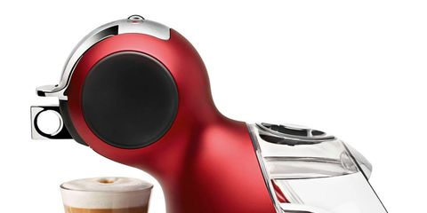 Red, Drinkware, Cup, Carmine, Drink, Small appliance, Home appliance, Maroon, Coffee, Single-origin coffee,