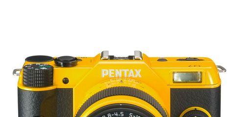 Product, Yellow, Brown, Digital camera, Cameras & optics, Camera accessory, Lens, Electronic device, Camera, Colorfulness,