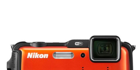 Product, Electronic device, Lens, Camera, Digital camera, Red, Technology, Line, Orange, Camera accessory,