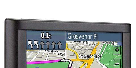 Gps navigation device, Display device, Electronic device, Automotive navigation system, Technology, Electronics, Parallel, Rectangle, Multimedia, Map,