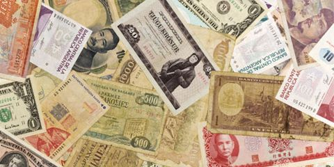 Paper product, Banknote, Chin, Paper, Money, Cash, Currency, Pink, Money handling, Number,