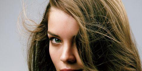 Nose, Mouth, Lip, Hairstyle, Chin, Eyebrow, Eyelash, Long hair, Step cutting, Beauty,