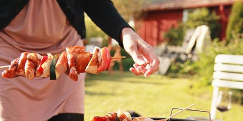 Food, Cuisine, Finger food, Brochette, Skewer, Roasting, Cooking, Dish, Recipe, Barbecue grill,