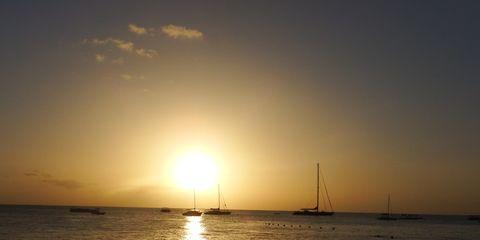 Liquid, Fluid, Sunset, Watercraft, Waterway, Horizon, Atmosphere, Sunrise, Dusk, Sunlight,