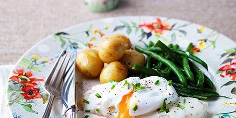 Dishware, Food, Fried egg, Ingredient, Serveware, Cuisine, Meal, Dish, Egg yolk, Breakfast,