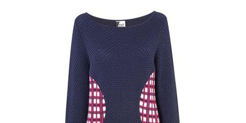 Sleeve, Pattern, Red, Carmine, Neck, Maroon, Magenta, Pattern, Woolen, Fashion design,