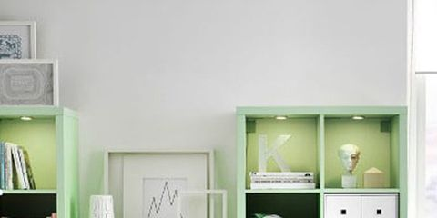 Green, Room, Wood, Drawer, Interior design, Wall, Chest of drawers, Furniture, White, Cabinetry,