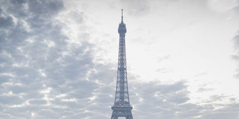 Sky, Pedestrian crossing, Tower, Cloud, Architecture, Tourism, Zebra crossing, Line, Landmark, Urban area,