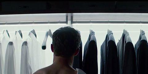 Shoulder, Textile, Standing, Back, Clothes hanger, Chest, Muscle, Barechested, Trunk, Abdomen,