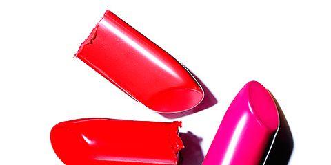 Magenta, Pink, Carmine, Purple, Lipstick, Gloss, Material property, Cosmetics, Silver, Nail care,