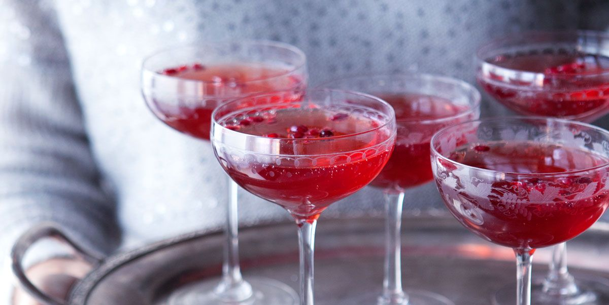 Pomegranate Gin Fizz Christmas Gin Cocktails