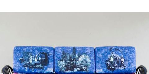 Blue, Outdoor furniture, Rectangle, Cobalt blue, Electric blue, Azure, Couch, Outdoor bench, Natural material, Bench,