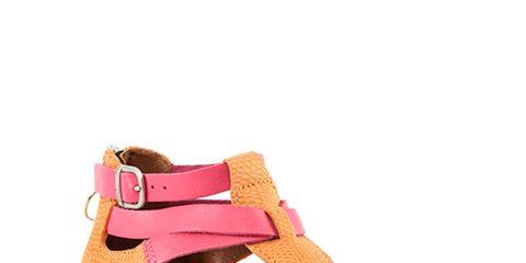 Brown, Tan, Fashion, Wedge, Beige, Fawn, Peach, Leather, Strap, Foot,