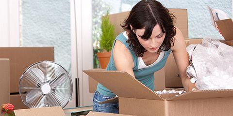 Flowerpot, Cardboard, Houseplant, Shipping box, Box, Comfort, Carton, Paper product, Mechanical fan, Goggles,