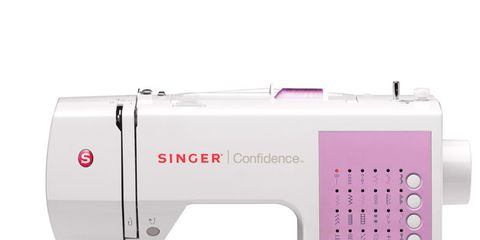Product, Photograph, Magenta, Pink, Line, Machine, Sewing machine, Purple, Household appliance accessory, Creative arts,
