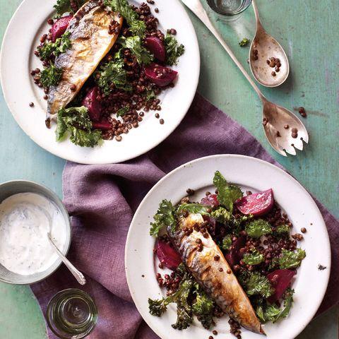 mackerel and kale salad