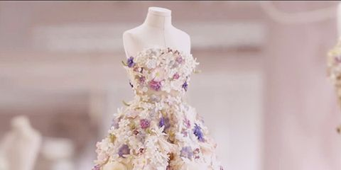 The Amazing Details Of A Couture Dior Dress Behind The Scenes
