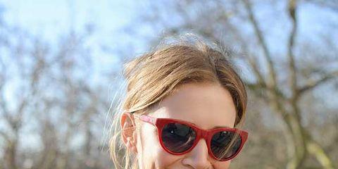 Clothing, Eyewear, Glasses, Vision care, Lip, Jacket, Textile, Outerwear, Sunglasses, Style,