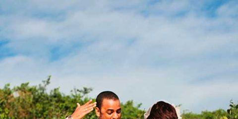 Dress shirt, Shirt, Collar, Photograph, Happy, People in nature, Dress, Sleeveless shirt, Belt, Farm,