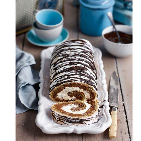 best chocolate recipes chocolate hazelnut meringue roulade