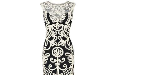 Dress, White, Pattern, One-piece garment, Style, Day dress, Motif, Visual arts, Pattern, Gown,