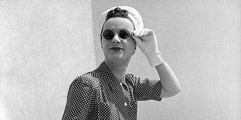 Sunglasses, Goggles, Sitting, Street fashion, Black-and-white, Necklace, Monochrome, Monochrome photography, Vintage clothing, Retro style,
