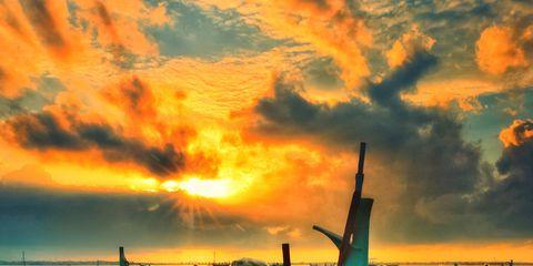 Cloud, Watercraft, Dusk, Boat, Reflection, Sunrise, Sunset, Liquid, Evening, Gondola,