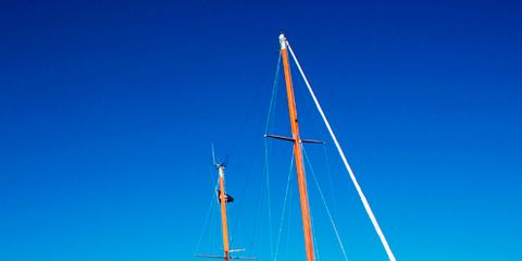 Boat, Watercraft, Mast, Azure, Sailboat, Naval architecture, Ship, Boats and boating--Equipment and supplies, Pole, Water transportation,
