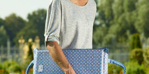 Clothing, Blue, Denim, Textile, Jeans, Bag, Style, Waist, Pattern, Fashion accessory,