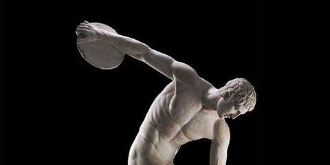 Shoulder, Human leg, Sculpture, Elbow, Calf, Muscle, Wrist, Knee, Chest, Classical sculpture,