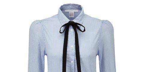 Clothing, Blue, Product, Dress shirt, Collar, Sleeve, Shoulder, Textile, Shirt, White,