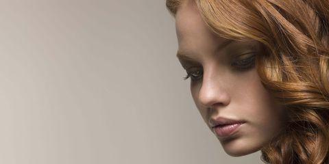 Lip, Hairstyle, Chin, Eyebrow, Eyelash, Style, Jaw, Step cutting, Beauty, Long hair,