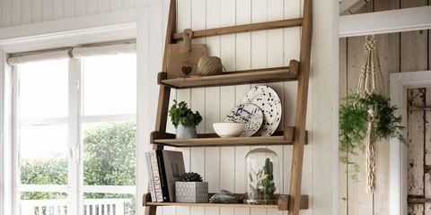 Wood, Shelf, Shelving, Interior design, Fixture, Door, Hardwood, Serveware, Daylighting, Plywood,