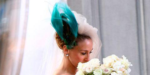 Petal, Bouquet, Photograph, Dress, Flower, Hair accessory, Headpiece, Beauty, Bridal clothing, Headgear,