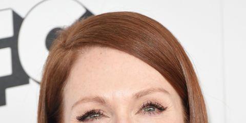 Hair, Nose, Mouth, Lip, Cheek, Smile, Brown, Earrings, Hairstyle, Skin,